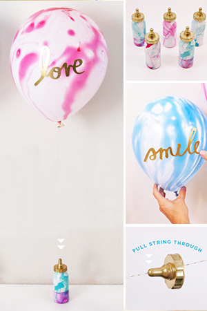 DIY Baby Bottle Balloon Weights