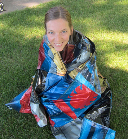 DIY Emergency Blanket from Old Mylar Balloons