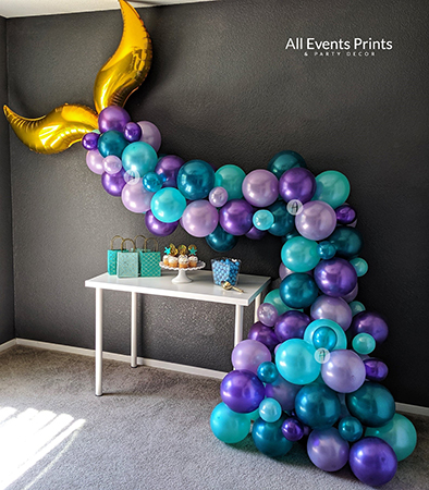 Shimmering Mermaid Tail Air Filled Balloon Decor