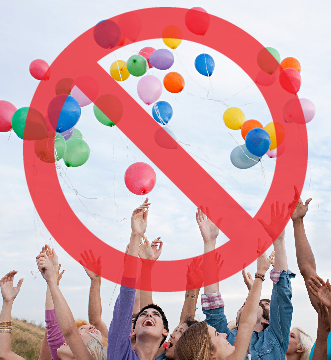 Say No to Balloon Releases